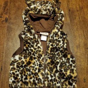 Little Lass infant girl's hooded vest